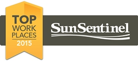 Top Workplace Florida Sun Sentinel Badge - 2015